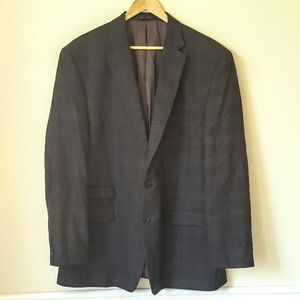 Lauren Ralph Lauren Plaid 100% Wool Blazer 50L